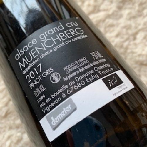 Domaine Ostertag A360P Muenchberg Grand Cru Pinot Gris