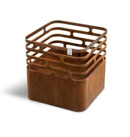Cube Vuurkorf Multifunctioneel - cortenstaal
