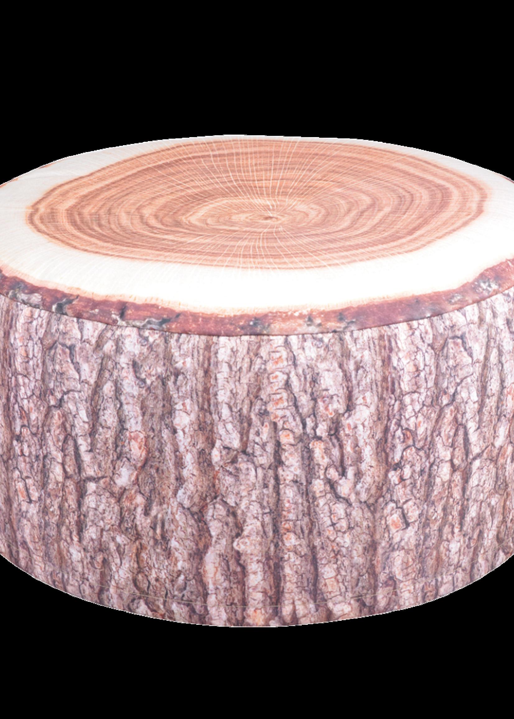 Esschert Design Tuinpoef opblaasbaar - boomstamprint