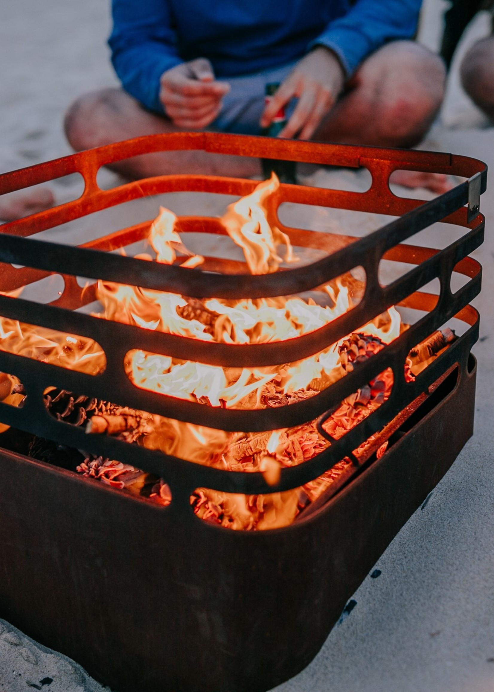 Höfats Pakket Cube Roest cortenstaal