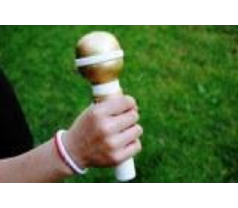 Houten Microfoon op standaard