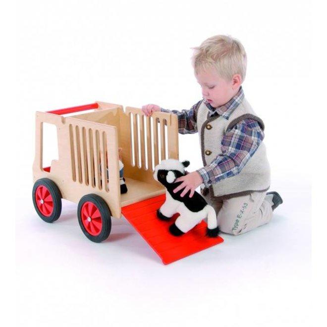 Houten Transportkar voor dieren