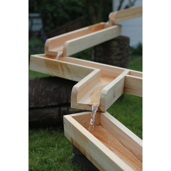 Waterbaan hout 12 delig - 8 meter