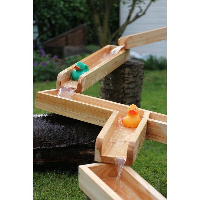Waterbaan hout  6 delig - 4 meter