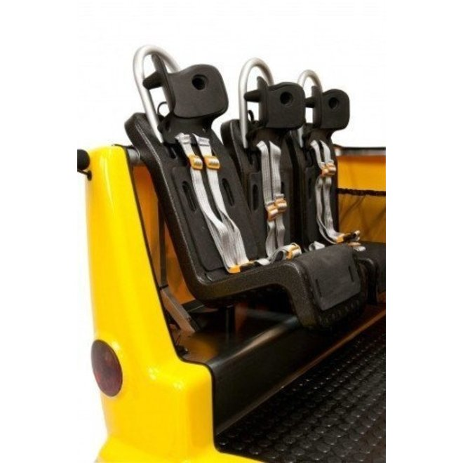 Kinderbus 6 zits geel - wit