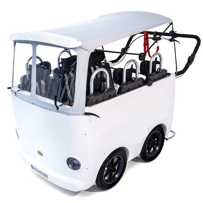 Kinderbus 6 zits wit Elektrisch