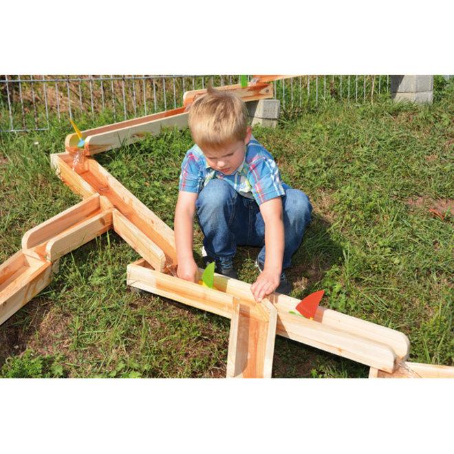 Knikkerbaan hout 4 meter