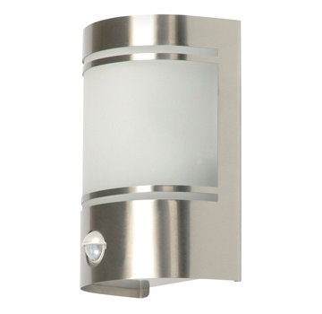 Wandlamp Buiten 60 W Incl. Bewegingssensor Geborsteld Staal