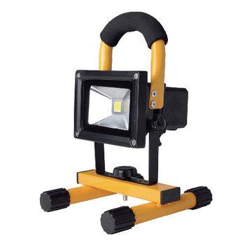 Mobiele LED Floodlight 10 W 700 lm Zwart / Geel