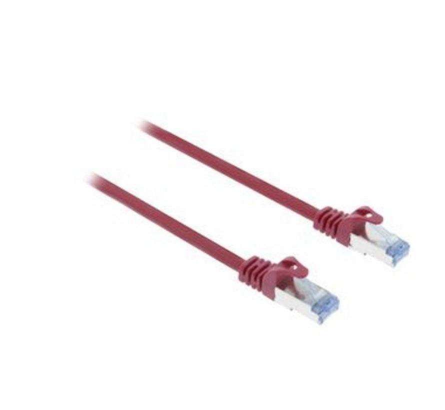 CAT6a S/FTP Netwerkkabel RJ45 (8/8) Male - RJ45 (8/8) Male 10.00 m Rood