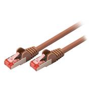 CAT6 S/FTP Netwerkkabel RJ45 (8/8) Male - RJ45 (8/8) Male 10.0 m Bruin