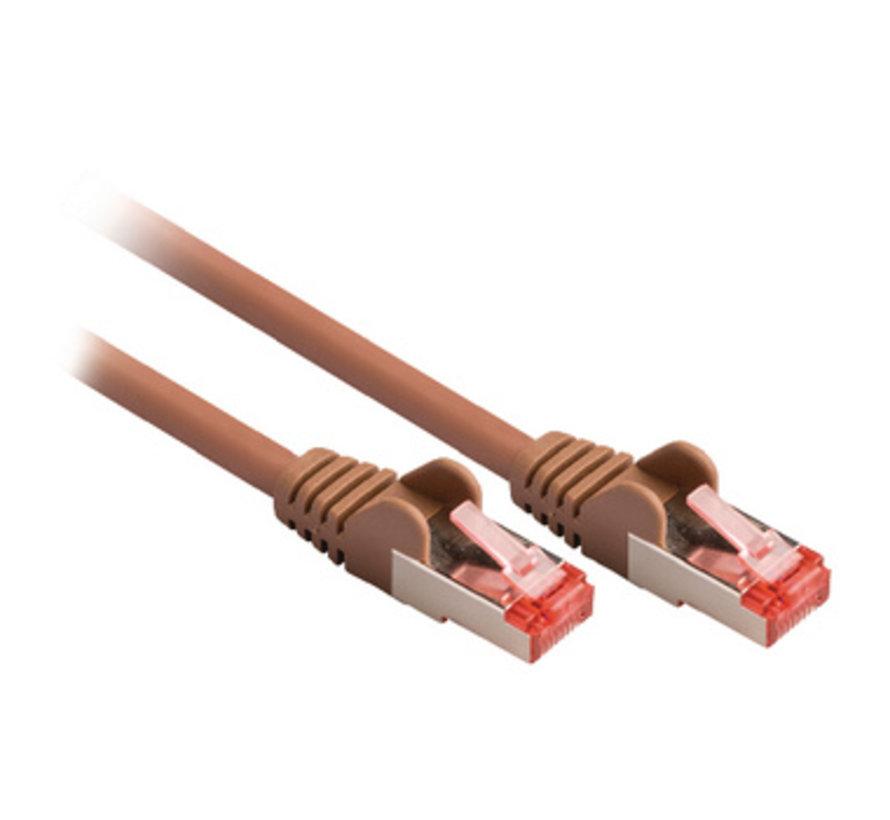 CAT6 S/FTP Netwerkkabel RJ45 (8/8) Male - RJ45 (8/8) Male 0.15 m Bruin