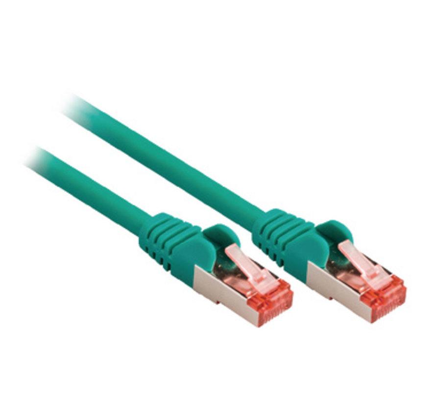 CAT6 S/FTP Netwerkkabel RJ45 (8/8) Male - RJ45 (8/8) Male 5.00 m Groen