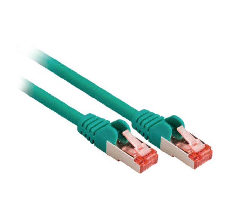CAT6 S/FTP Netwerkkabel RJ45 (8/8) Male - RJ45 (8/8) Male 0.50 m Groen