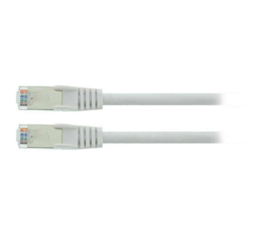 CAT5e SF/UTP Netwerkkabel RJ45 (8/8) Male - RJ45 (8/8) Male 0.25 m Wit
