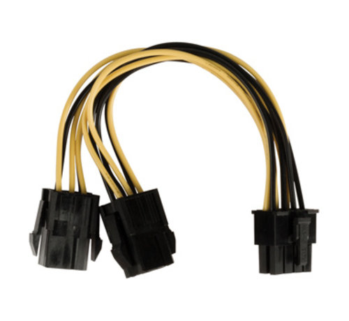Interne Stroomkabel EPS 8-Pins Male - 2x PCI Express Female 0.15 m