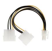 Interne Stroomkabel 2x Molex Male - PCI Express Female 0.15 m