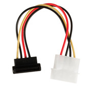 Interne Stroomkabel Molex Male - SATA 15-Pins Female 0.15 m