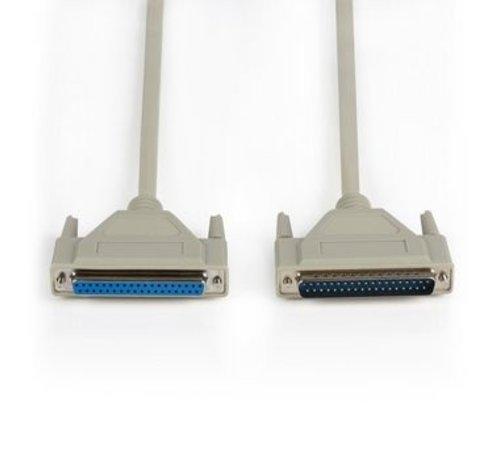 Seriële kabel D-SUB 37-Pins Male - D-SUB 37-Pins Female 1.00 m Ivoor