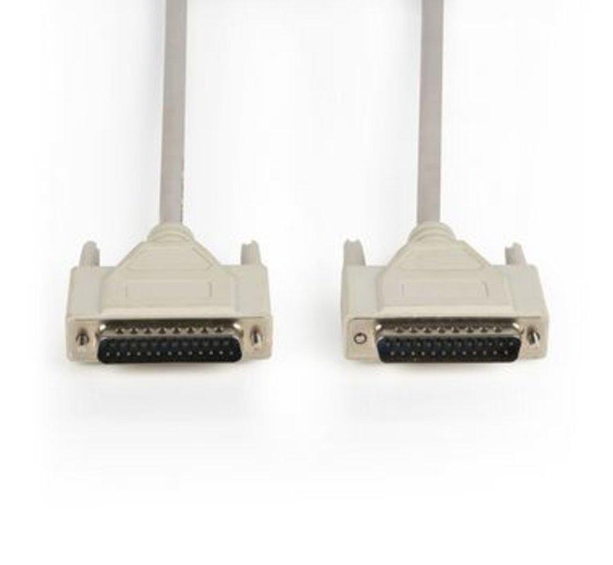 Seriële kabel SUB-D 25-Pins Male - SUB-D 25-Pins Female 3.00 m Ivoor