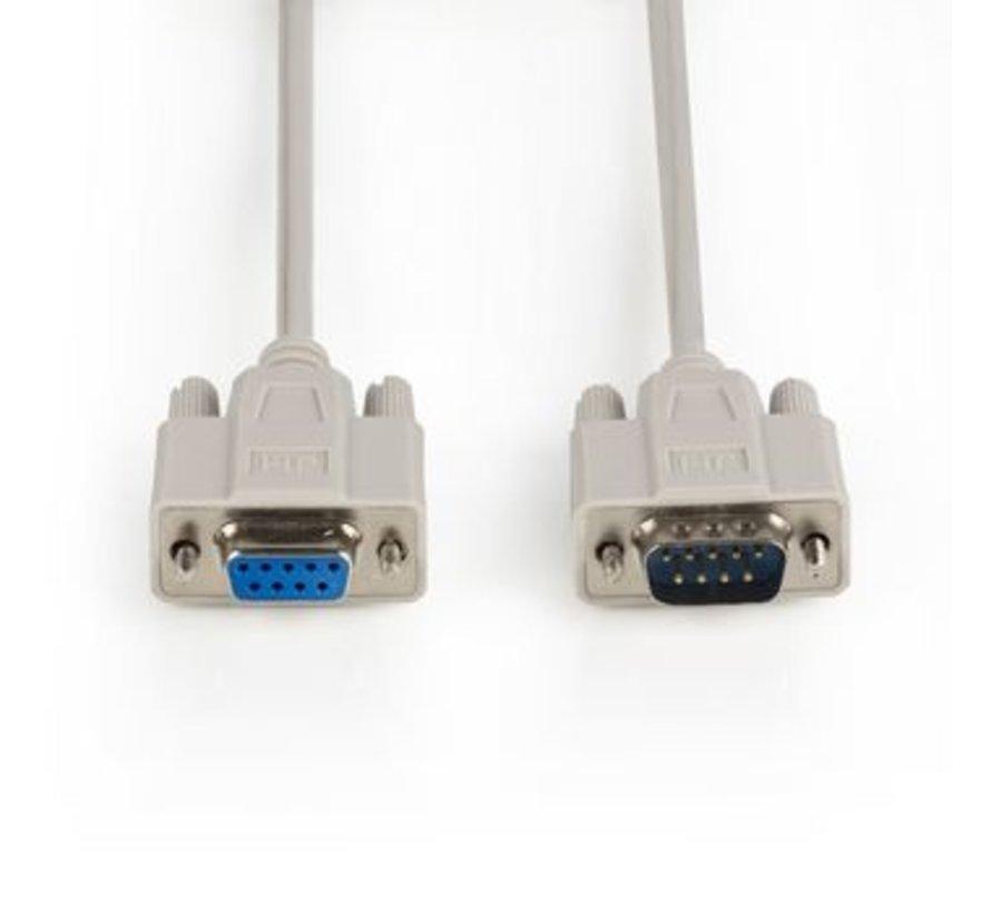 Seriële kabel SUB-D 9-Pins Male - SUB-D 9-Pins Female 15.0 m Ivoor