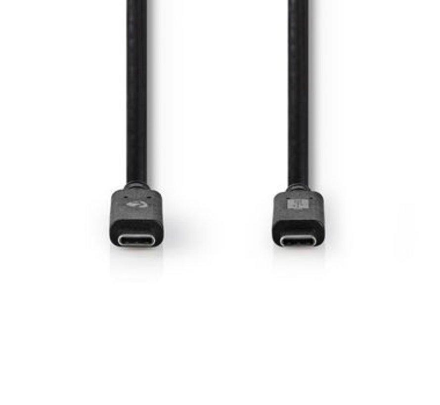 USB 3.1-Kabel (Gen2)   USB-C™ Male - USB-C™ Male   1,0 m   Zwart