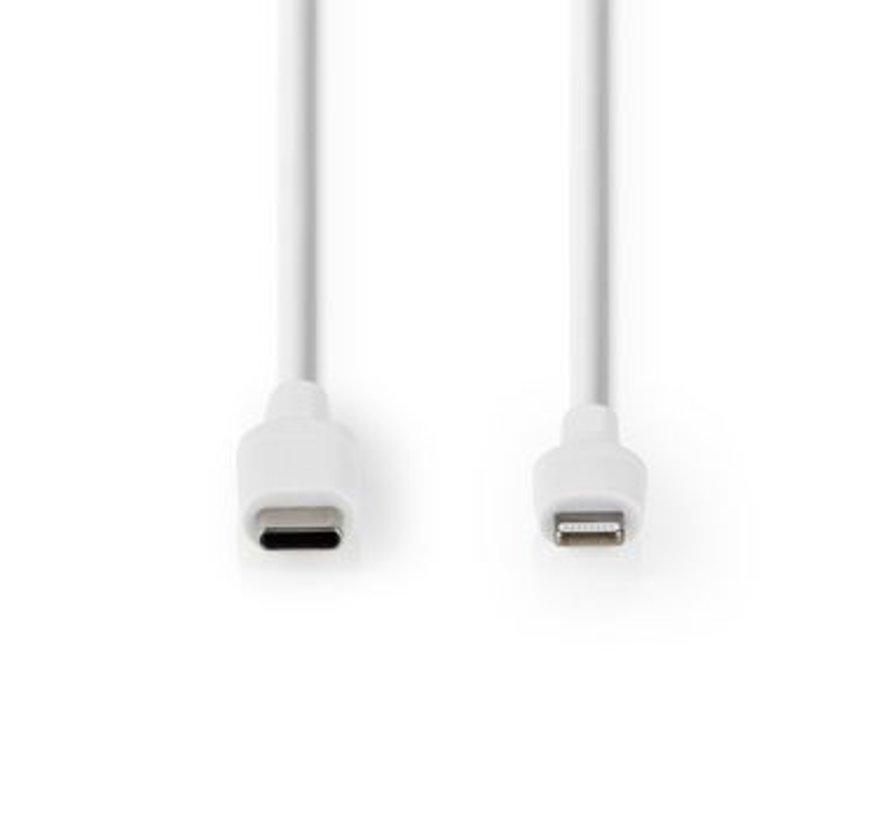 Apple Lightning Cable   Apple Lightning 8-Pin Male - USB-C™   1.0 m   White