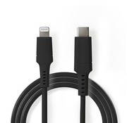 Nedis Apple Lightning Cable | Apple Lightning 8-Pin Male - USB-C™ | 2.0 m | Zwart