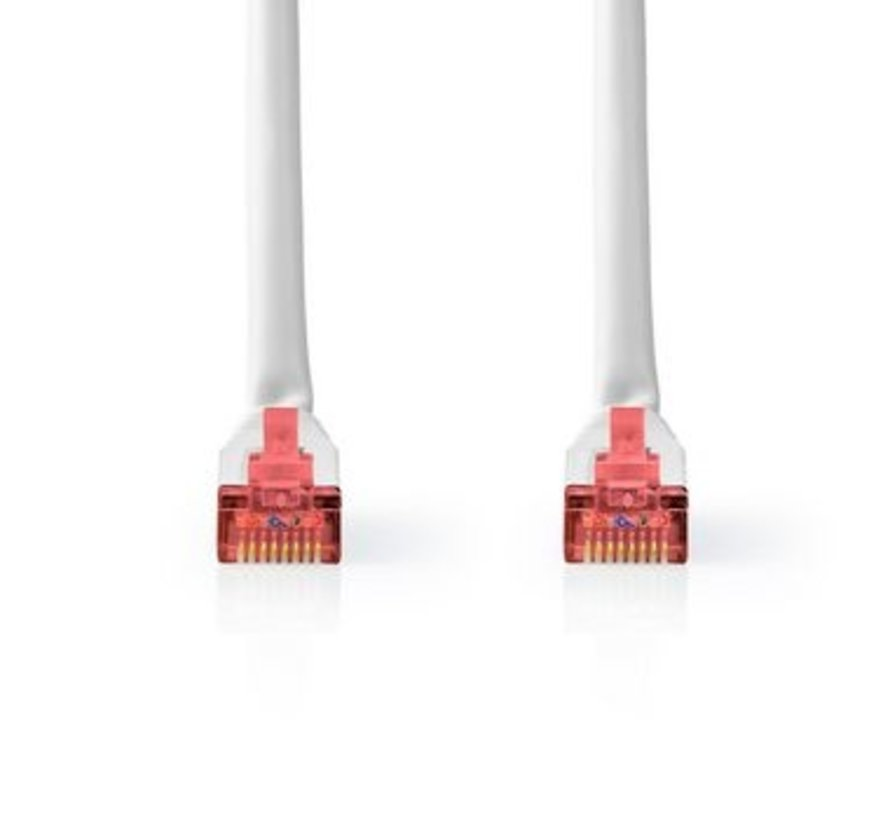 CAT6-kabel | RJ45 (8P8C) Male | RJ45 (8P8C) Male | S/FTP | 7.50 m | Rond | PVC | Wit | Label