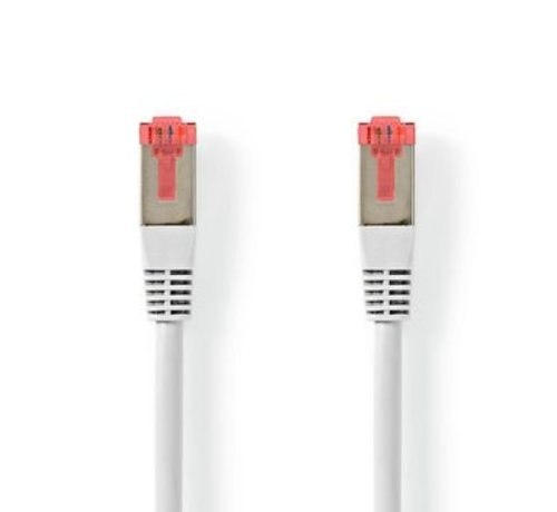 Nedis CAT6-kabel | RJ45 (8P8C) Male | RJ45 (8P8C) Male | S/FTP | 5.00 m | Rond | PVC | Wit | Label