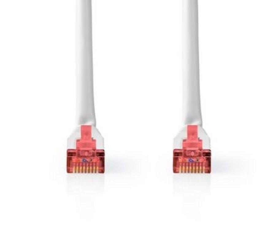 CAT6-kabel | RJ45 (8P8C) Male | RJ45 (8P8C) Male | S/FTP | 5.00 m | Rond | PVC | Wit | Label