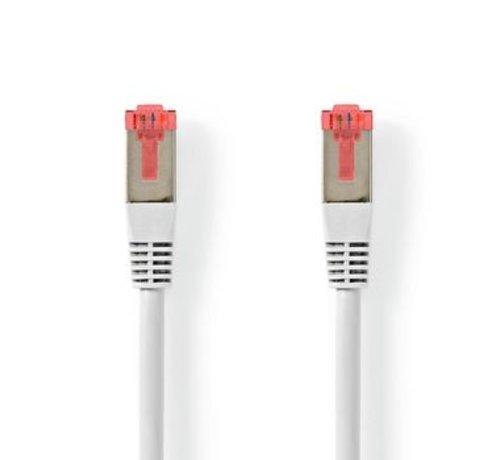 Nedis CAT6-kabel | RJ45 (8P8C) Male | RJ45 (8P8C) Male | S/FTP | 10.0 m | Rond | PVC | Wit | Label
