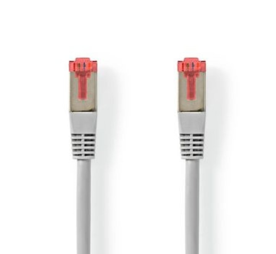 CAT6-kabel | RJ45 (8P8C) Male | RJ45 (8P8C) Male | S/FTP | 2.00 m | Rond | PVC | Grijs | Label
