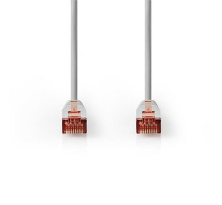 Cat 6 F/UTP-netwerkkabel | RJ45 (8P8C) male - RJ45 (8P8C) male | 0,25 m | Grijs