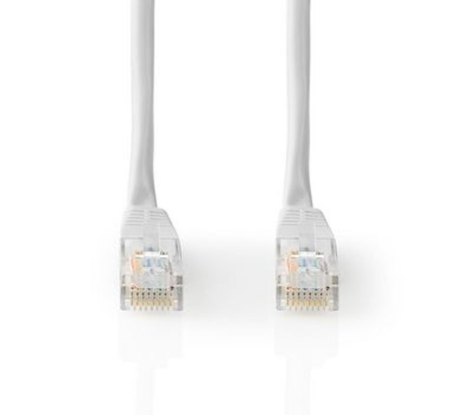 CAT5e-Kabel | UTP | RJ45 (8P8C) Male | RJ45 (8P8C) Male | 3.00 m | Rond | PVC | Wit | Label