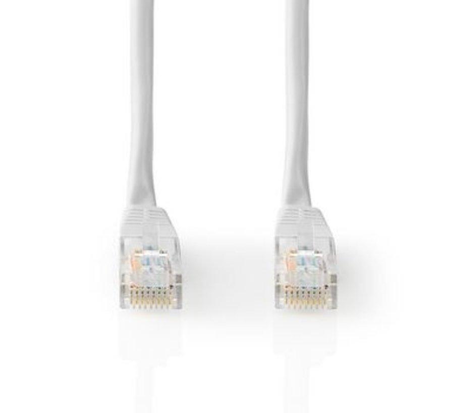 Netwerkkabel CAT5e UTP   RJ45 Male   RJ45 Male   1,0 m   Wit