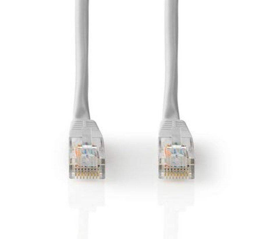 CAT5e-Kabel   UTP   RJ45 (8P8C) Male   RJ45 (8P8C) Male   5.00 m   Rond   PVC   Grijs   Label