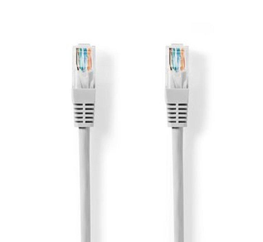 CAT5e-Kabel | UTP | RJ45 (8P8C) Male | RJ45 (8P8C) Male | 1.00 m | Rond | PVC | Grijs | Label