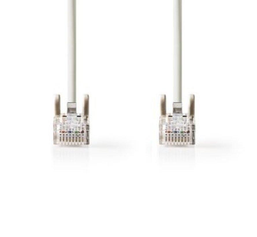 Cat 5e UTP-netwerkkabel | RJ45 (8P8C) male - RJ45 (8P8C) male | 0,5 m | Grijs