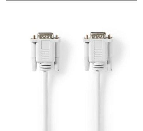 Nedis Seriële Kabel | D-Sub 9-Pins Male | D-Sub 9-Pins Male | 2,0 m | Ivoor