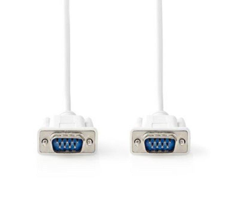Seriële Kabel | D-Sub 9-Pins Male | D-Sub 9-Pins Male | 2,0 m | Ivoor