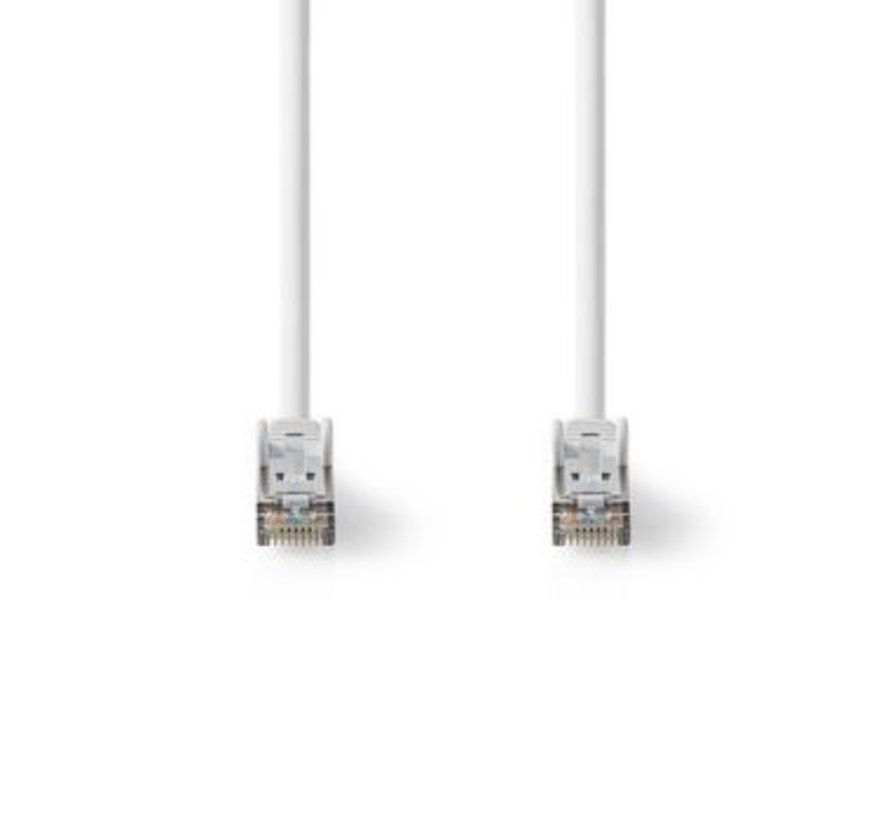 Cat 8.1 S/FTP-Netwerkkabel | RJ45 Male naar RJ45 Male | 10,0 m | Wit
