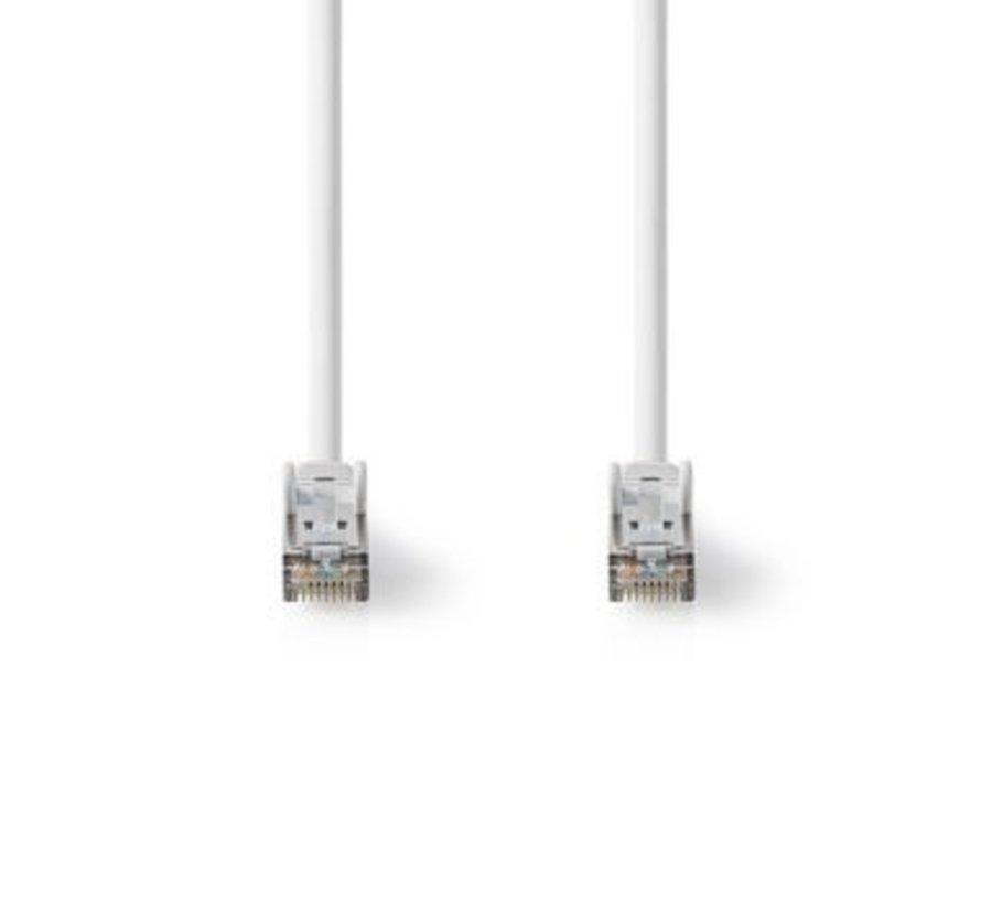 Cat 8.1 S/FTP-Netwerkkabel | RJ45 Male naar RJ45 Male | 0,50 m | Wit