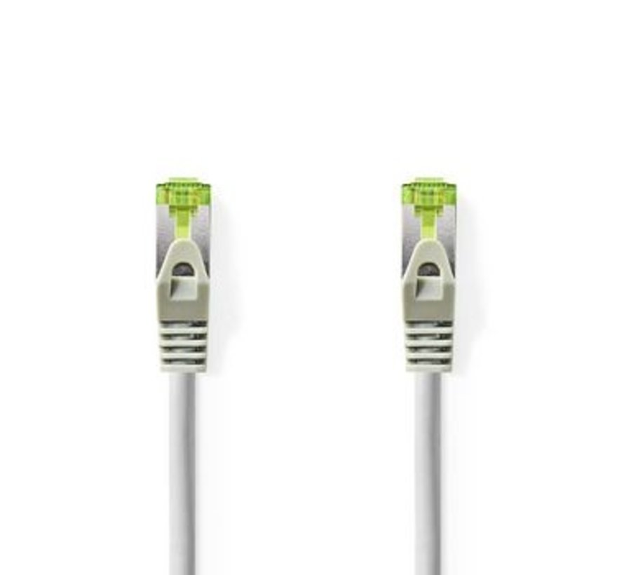 Cat 7 S/FTP PiMF-Netwerkkabel | RJ45 Male - RJ45 Male | 0,5 m | Grijs