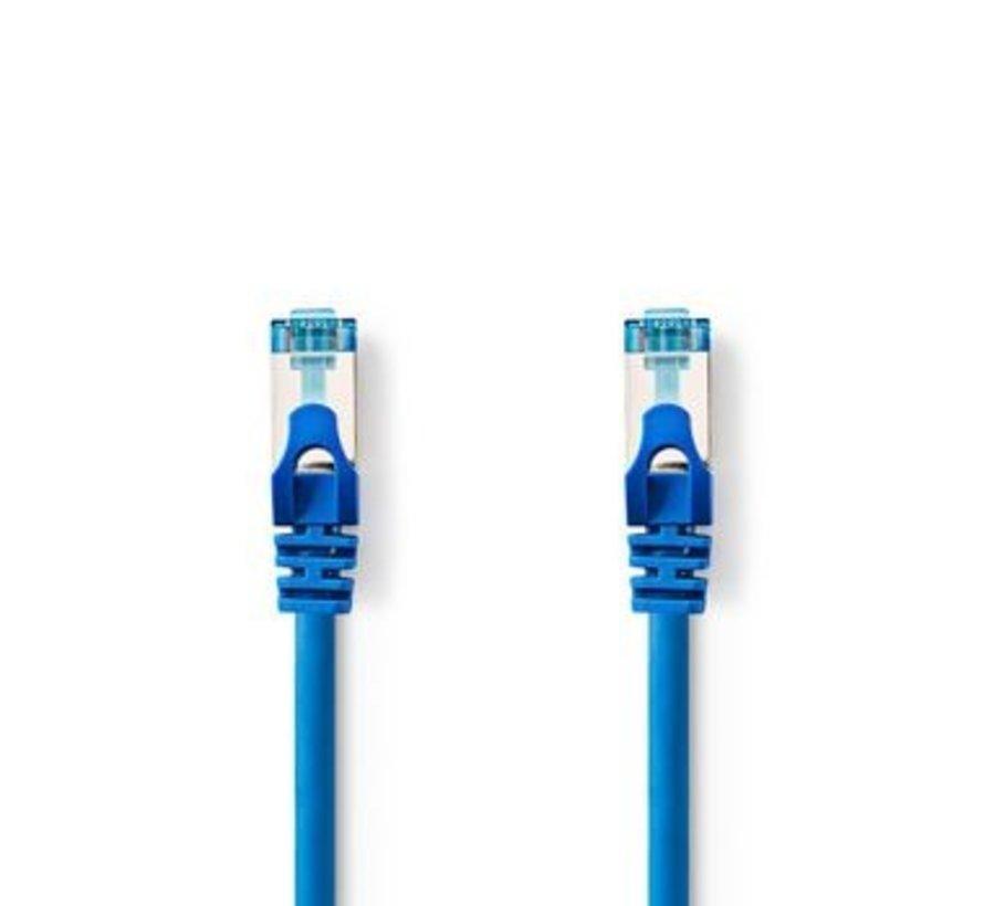 CAT6a SF/UTP-Netwerkkabel | RJ45 Male - RJ45 Male | 0,5 m | Blauw