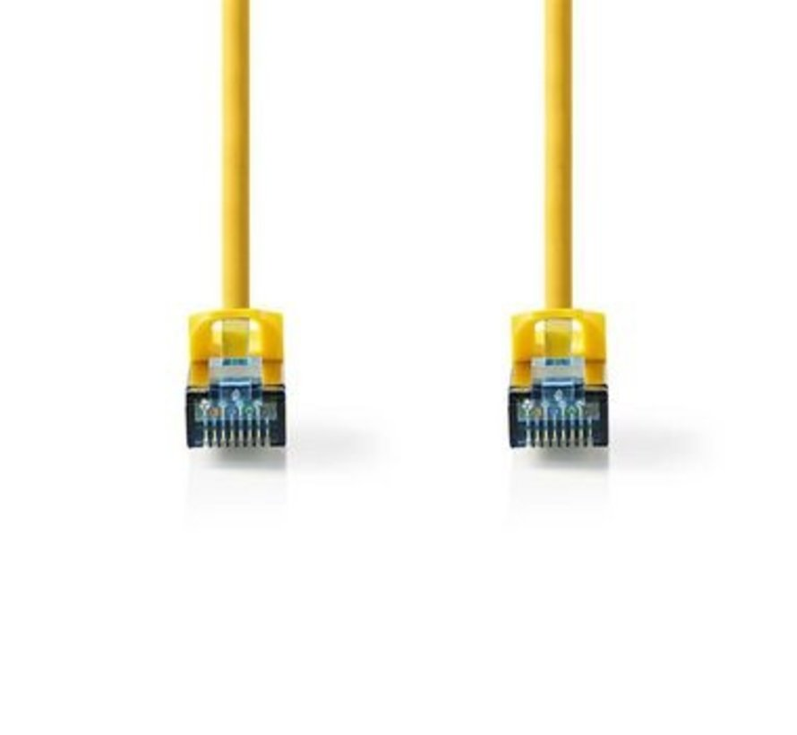 CAT6a SF/UTP-Netwerkkabel | RJ45 Male - RJ45 Male | 10 m | Geel