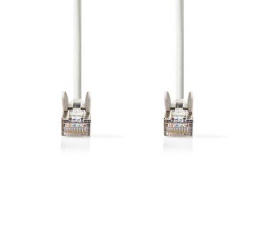 CAT6-kabel | RJ45 (8P8C) Male | RJ45 (8P8C) Male | SF/UTP | 5.00 m | Rond | PVC | Wit | Polybag