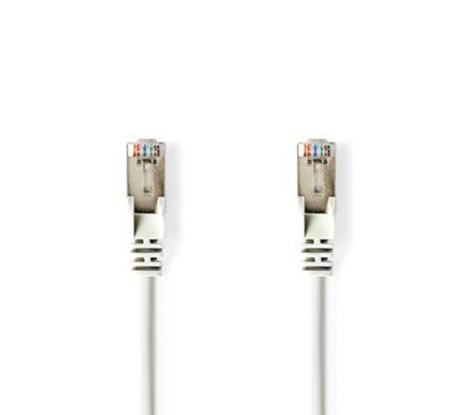 Netwerkkabel CAT6 SF/UTP | RJ45 (8P8C) male - RJ45 (8P8C) male | 0,5 m | Wit