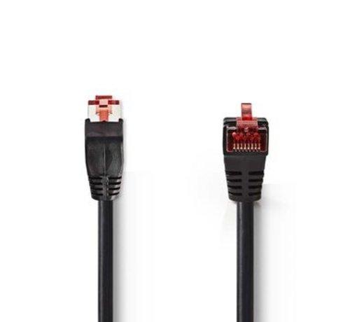 Nedis CAT6-kabel | RJ45 (8P8C) Male | RJ45 (8P8C) Male | SF/UTP | 3.00 m | Rond | PVC LSZH | Zwart | Polybag