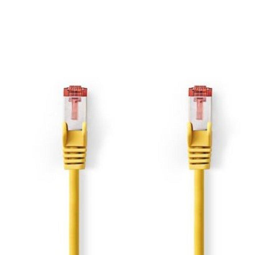 CAT6 S/FTP-Netwerkkabel | RJ45 Male - RJ45 Male | 7,5 m | Geel